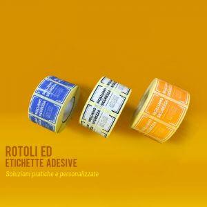 Mautone packaging etichette rotoli